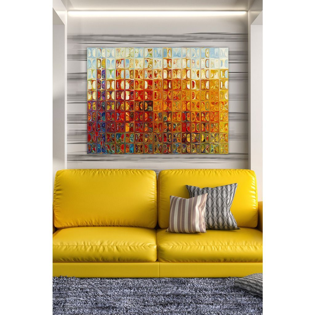 FramedArt.com Mark Lawrence \'Modern Mosaic Tile Wall Art #1, 2015 ...