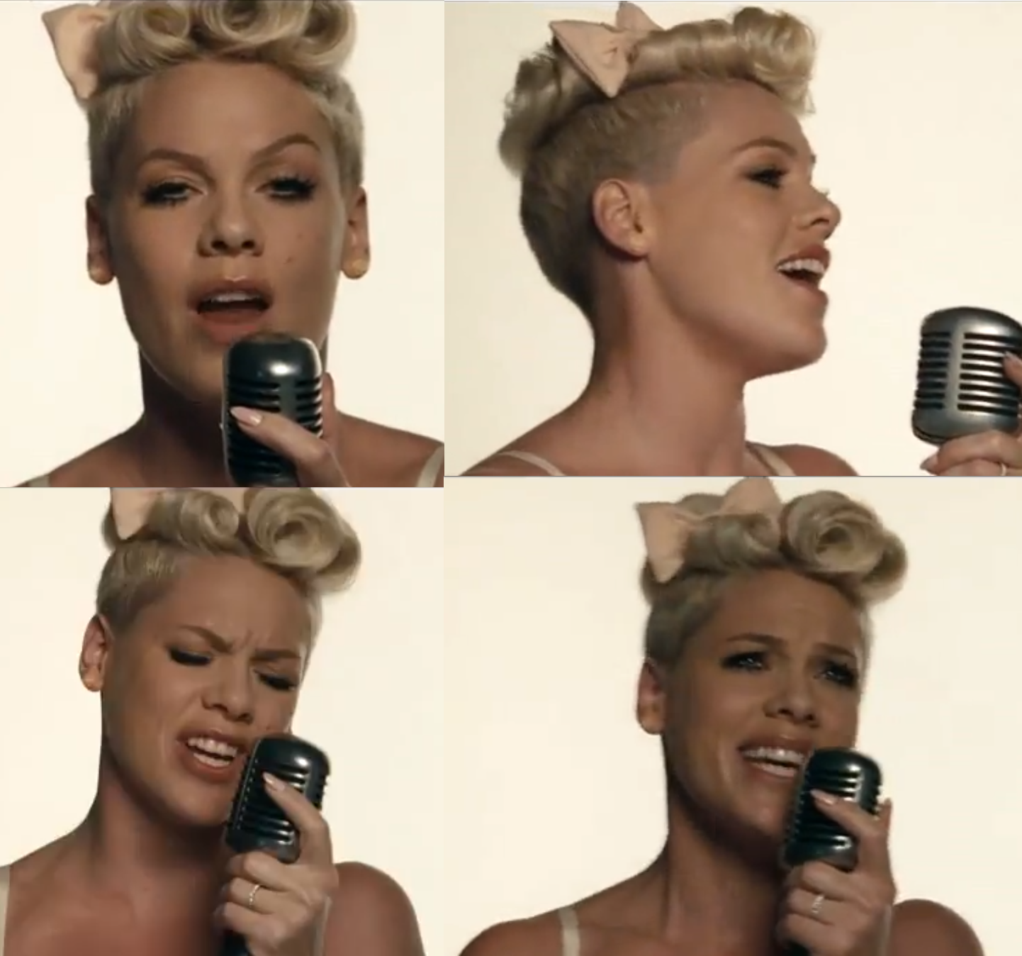 Pinks the queen of vintage short hair styles and with this undercut ...