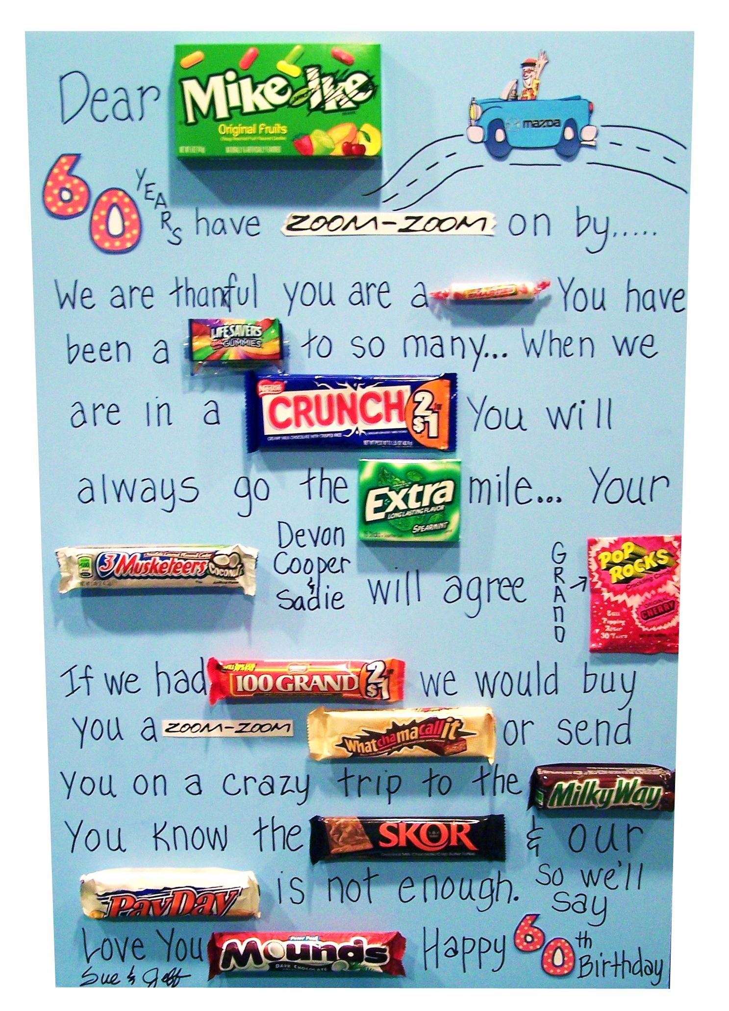 A Candy Poem I made for a friend Craft ideas Pinterest