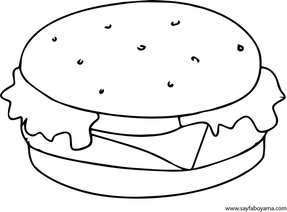 Hamburger Boyama Sayfasi