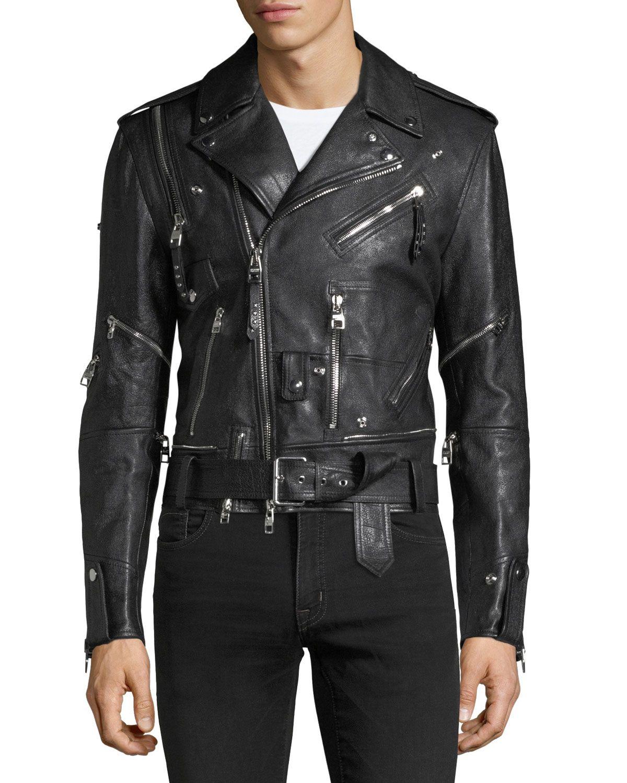 Alexander Mcqueen Buffalo Leather Biker Jacket Biker Jacket Leather Biker Jacket Jackets