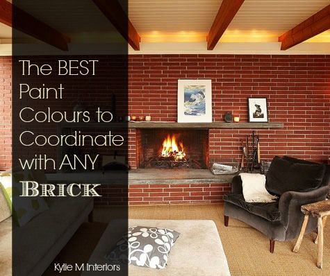 The Best Paint Colours To Update A Brick Fireplace Best Paint Colors Red Brick Fireplaces Brick Fireplace
