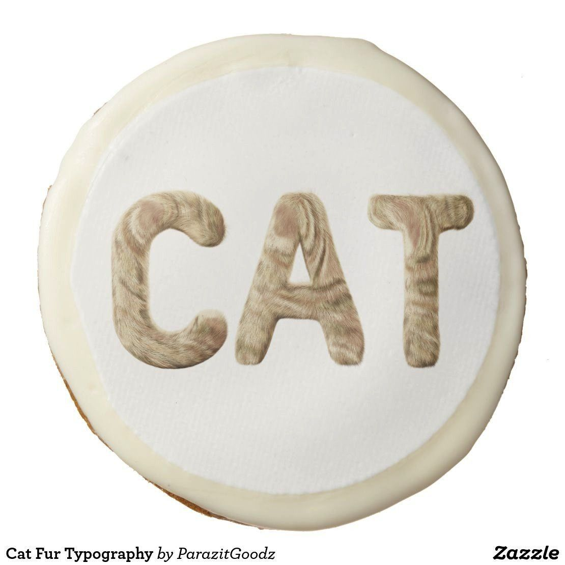 Fur Typography Sugar Cookie  If you are addicted to soft and relaxing cats you will always feel your little friend with this typographical design consisting of letters fr...