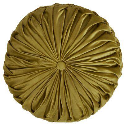 Willa Arlo Interiors Dee Pintucked Throw Pillow Cover & Insert Colour: Kiwi