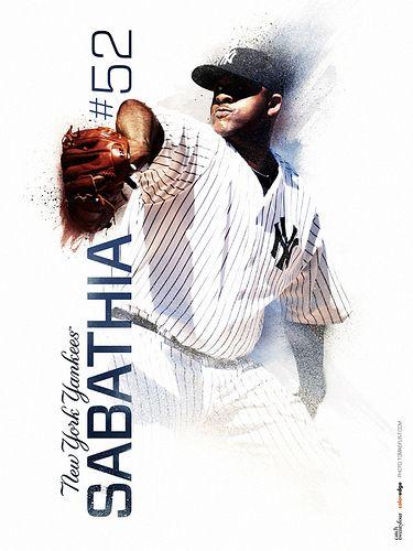 Tomas Flint Cc Sabathia 2 By Tomas Flint Via Flickr Sports Design Ny Yankees Poster Yankees Poster