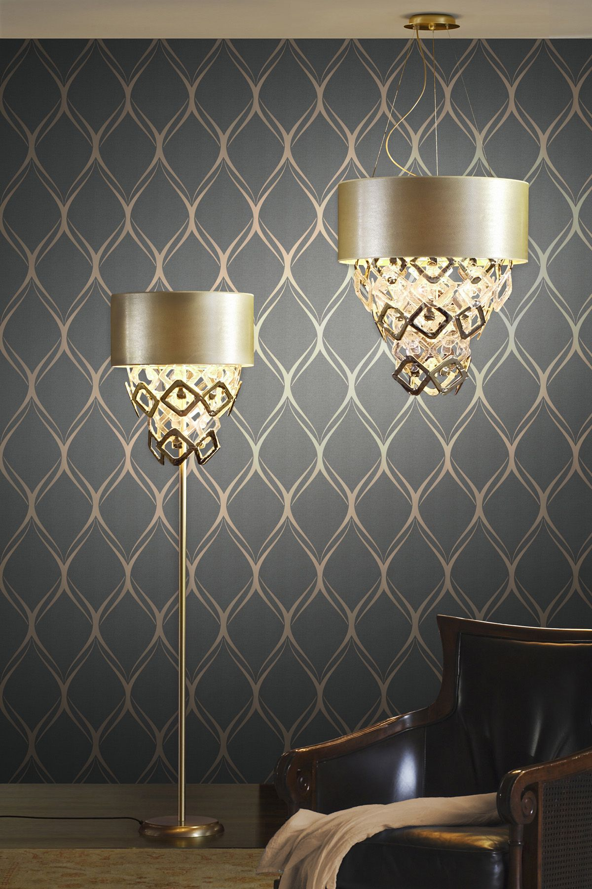 wallpaper ideas for living room feature wall furniture modern luxe decor idea with a dreamy