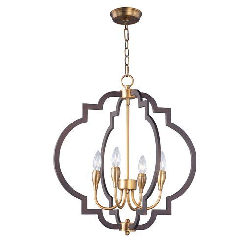 Astin 4 light candle style chandelier