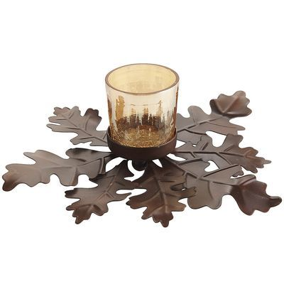 Metal Leaf Votive Holder -  I love how this coordinates with the other leaf items that Pier One is carrying this fall, that can be spread throughout your rooms to coordinate them too! From Dining Table to Living Room, your house will flow!!!