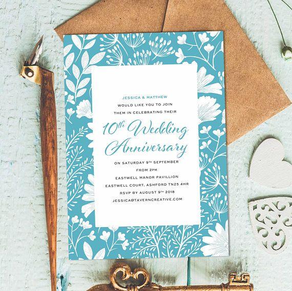 wedding invitation 10 year anniversary invitations wedding