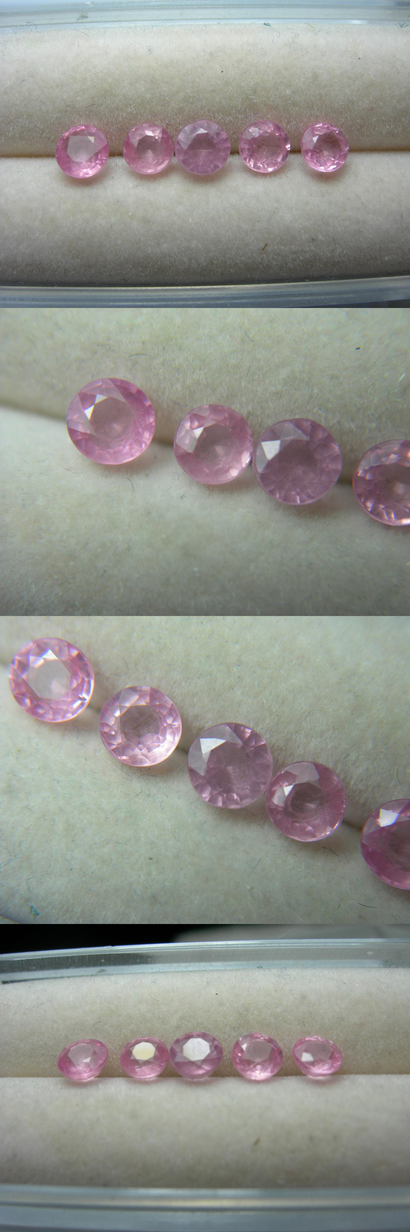Spinel 110873: 5 Rare Fancy Pink Spinel Gems Tanzania Round ...