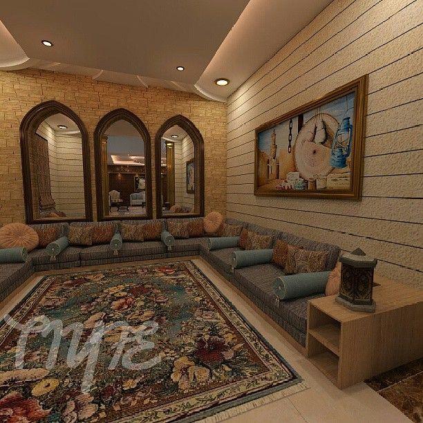مجلس عربي بهوية مغربية من تصميمي Padgram Home Decor