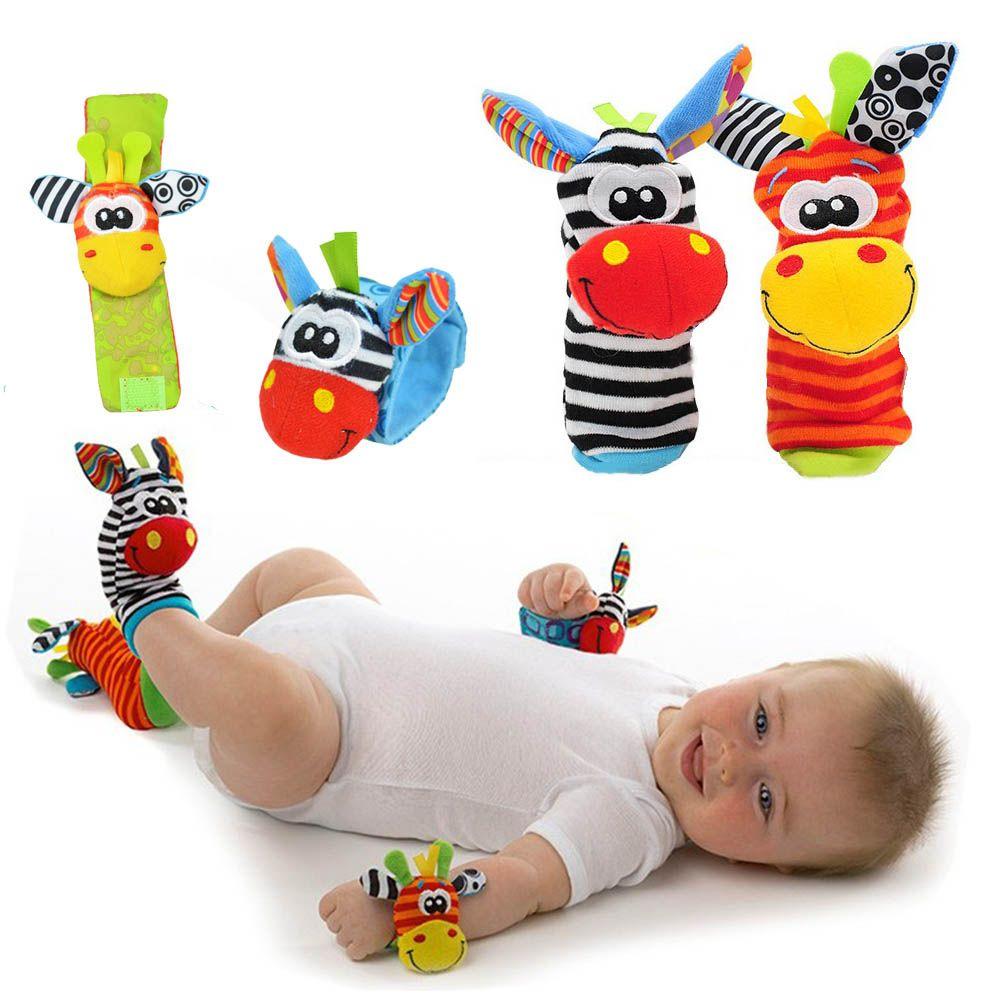 5487725ea Comprar Novo Design Das Meninas Dos Meninos do Bebê Sozzy Brinquedo  Chocalho Do Bebê Animais Meias pé Localizador Alça de Pulso Macio Crianças  Bebê ...