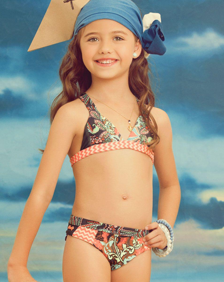 Young girls swimwear models