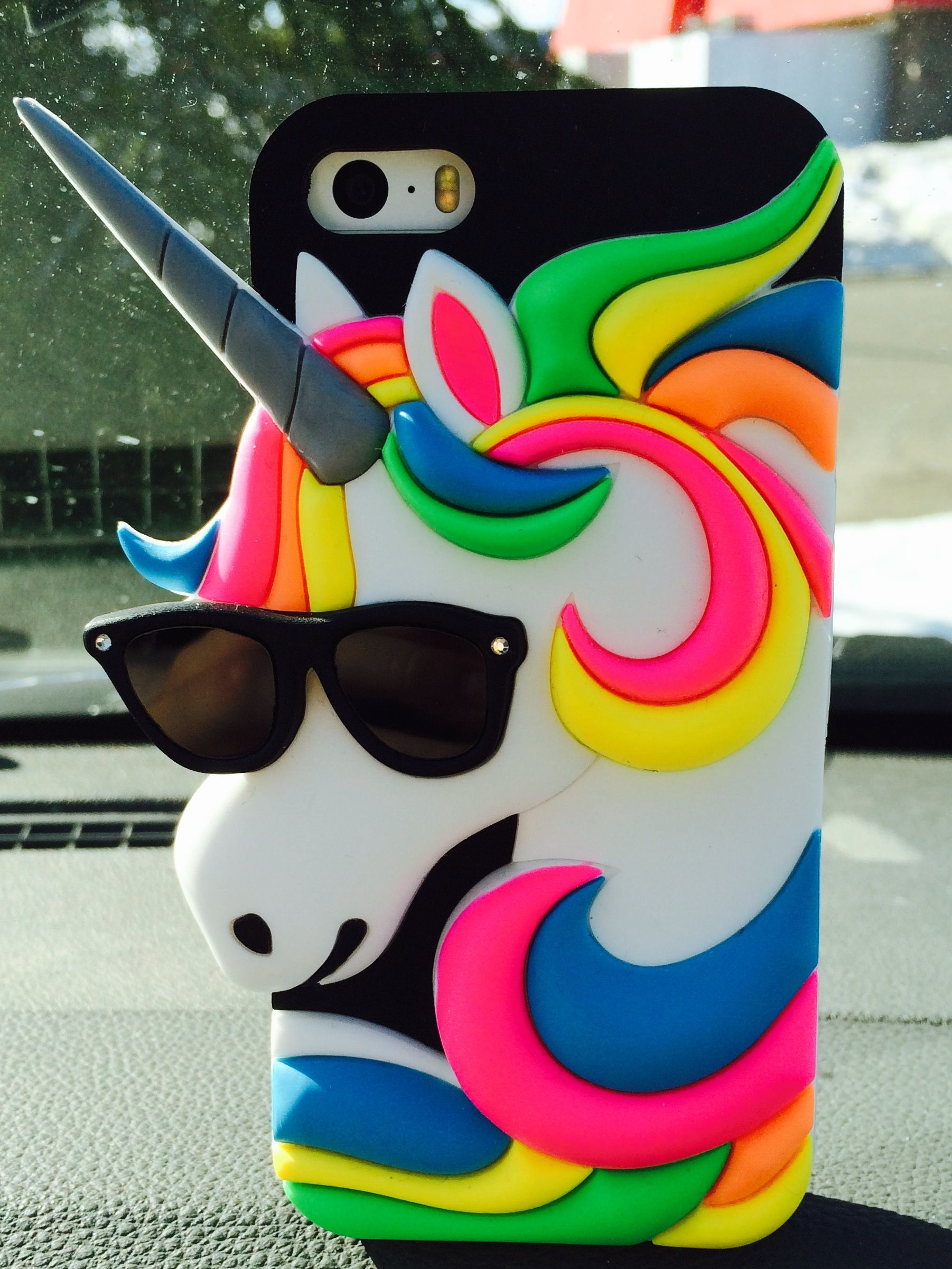 Awesome unicorn phone case from Claire's for iPhone 5 5s and 5c ...