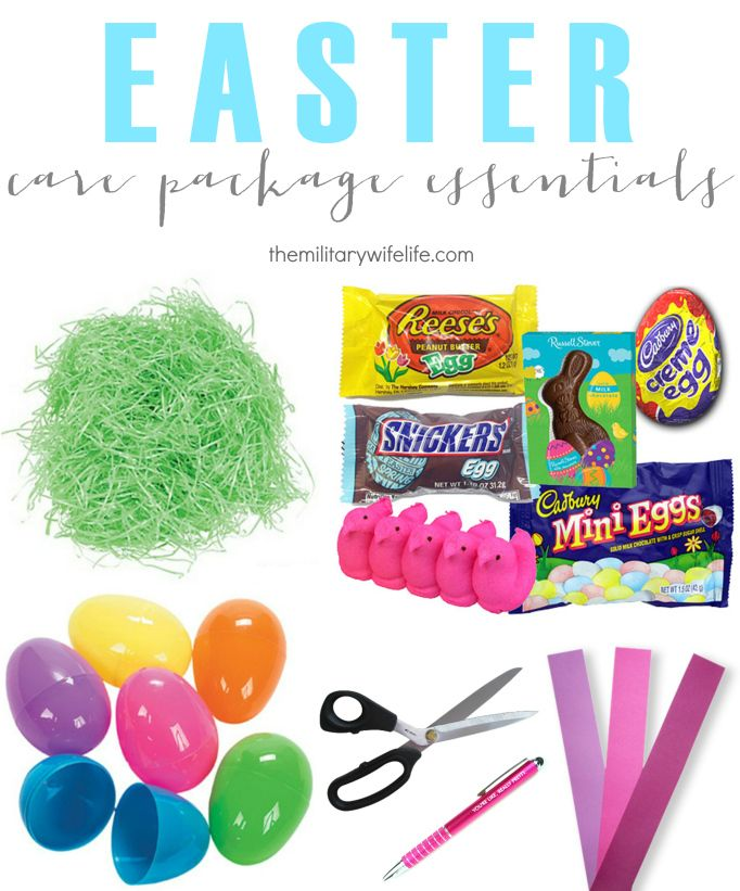 Easter care package ideas easter long distance and holidays easter care package ideas the military wife life negle Image collections