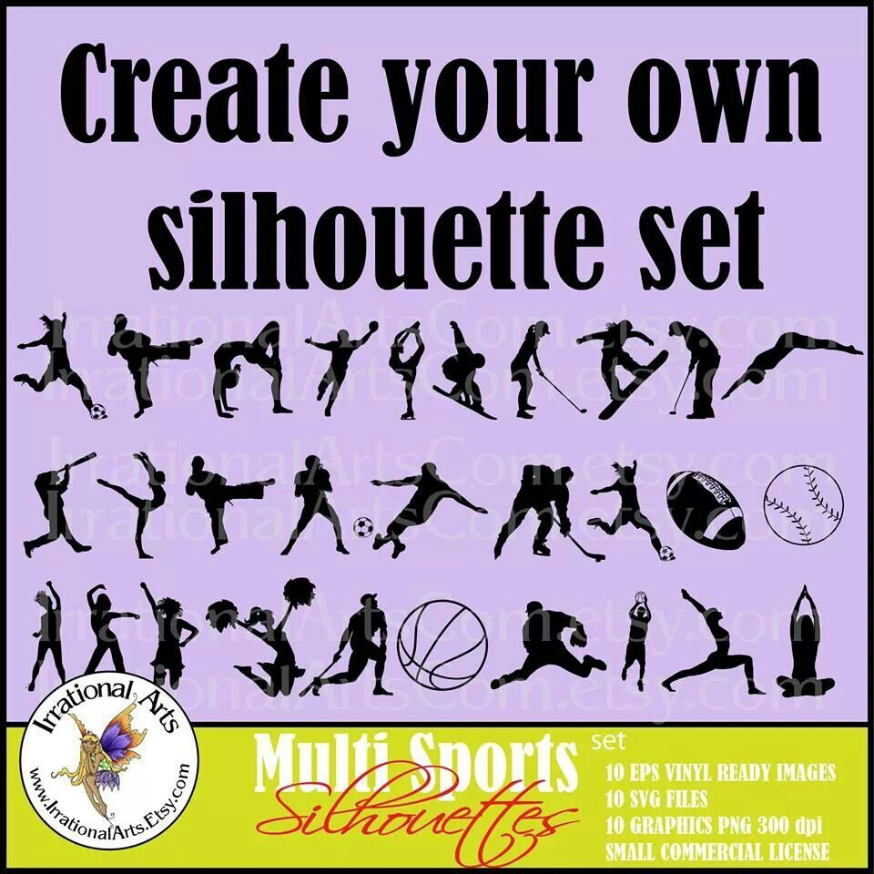 Silhouette sets Create your own, Silhouette, Illustrator cs6