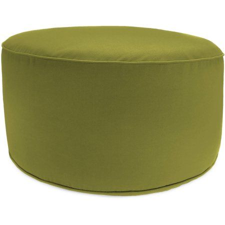Excellent Jordan Manufacturing Outdoor Patio Round Pouf Ottoman Green Squirreltailoven Fun Painted Chair Ideas Images Squirreltailovenorg