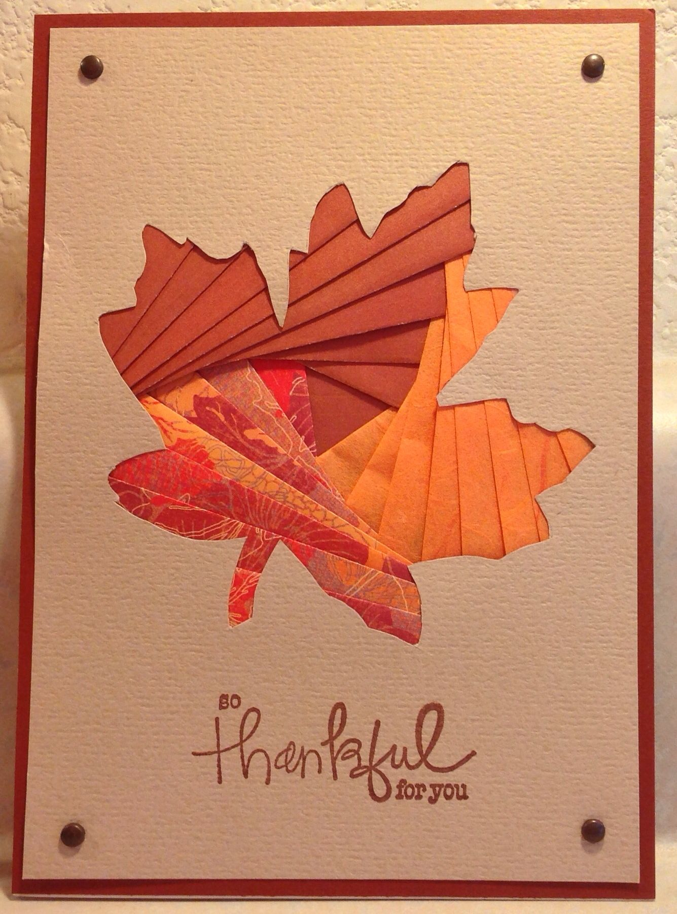 Iris Folded Fall Leaf Card | Cards I\'ve Made ✂ | Pinterest