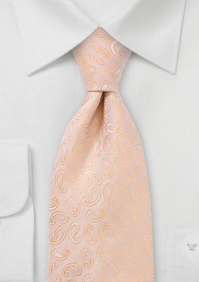 b164fe536eaa Preppy Peach Paisley Tie Peach Orange Color, Orange Suit, Peach Colors,  Pastel Colors