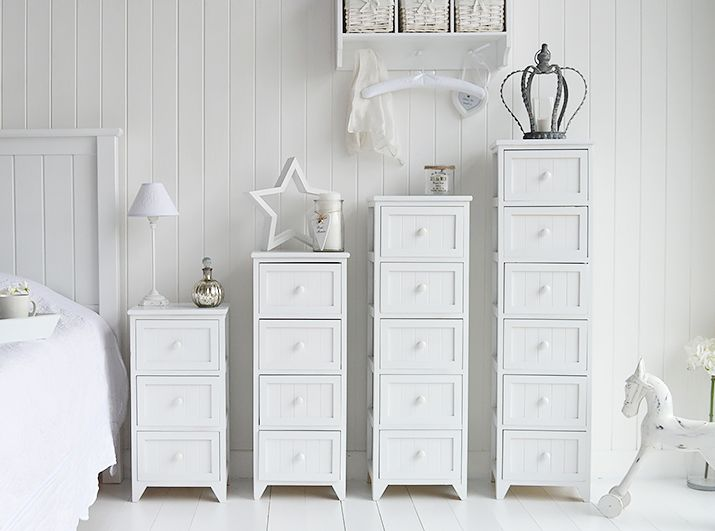 Maine Range Of White Bedroom Storage Furniture Different Sizes Of Chest Of Drawers