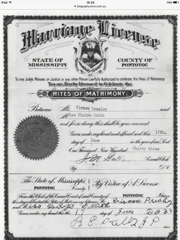 Gladys and vernon wedding certificate elvisanddenise elvis gladys and vernon wedding certificate elvisanddenise 1betcityfo Gallery
