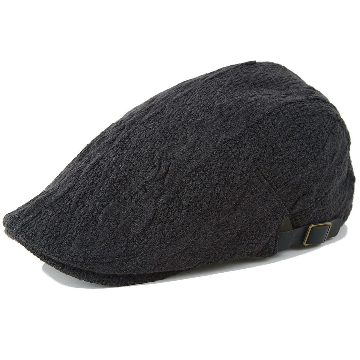 4129ce03021 Chic Fashion Hat Flat Cap Ivy Slap Cabby Gatsby Driving Black ib2109d