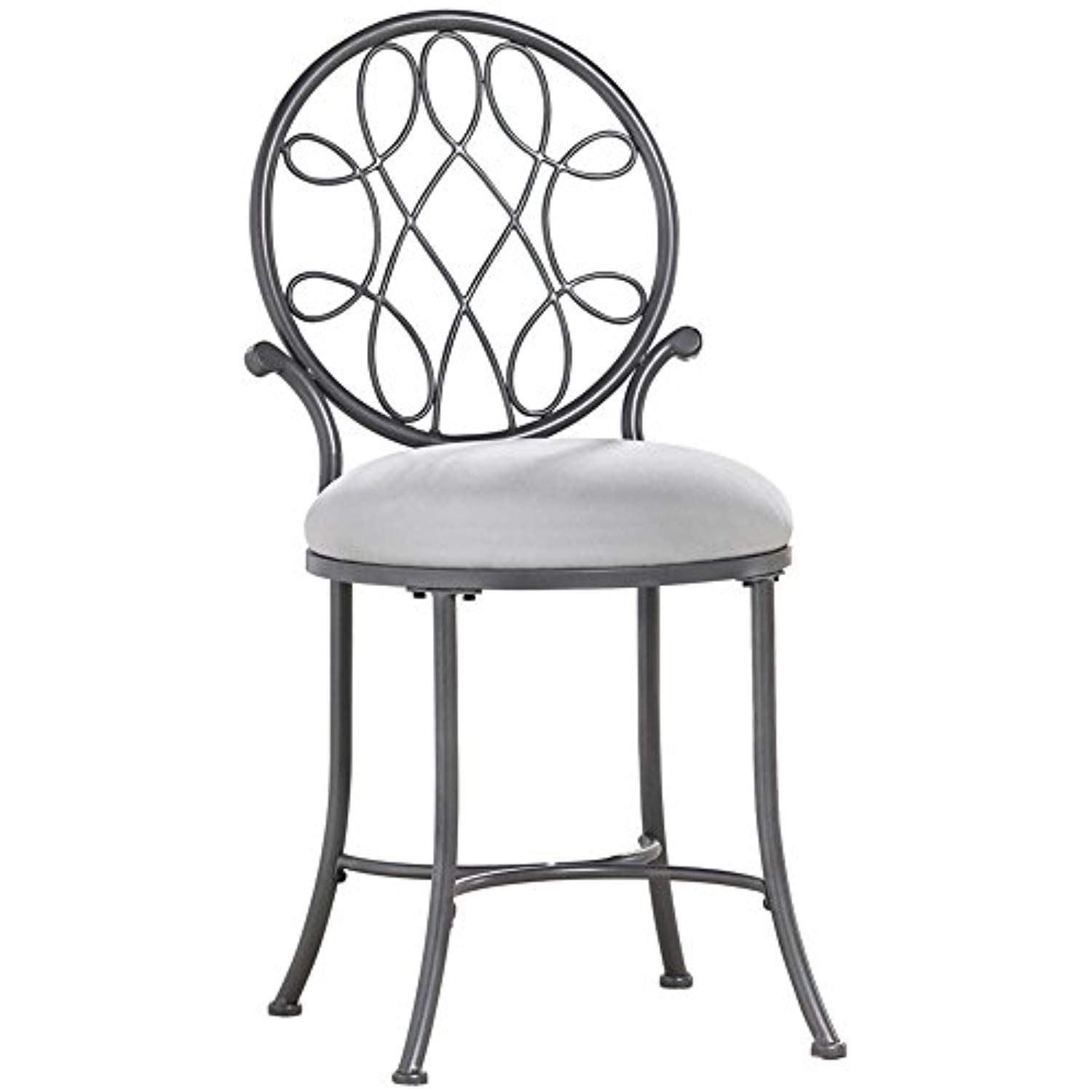 Hillsdale O Malley Vanity Stool Gray See This Great Product This Is An Affiliate Link Vanity Stool Vanity Chair Vanity Seat