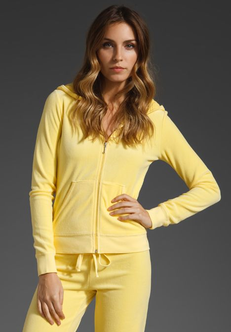 Juicy Couture Velour Hoodie In Buttercup 98 00 Juicy Couture Couture Outfits Juicy Tracksuit