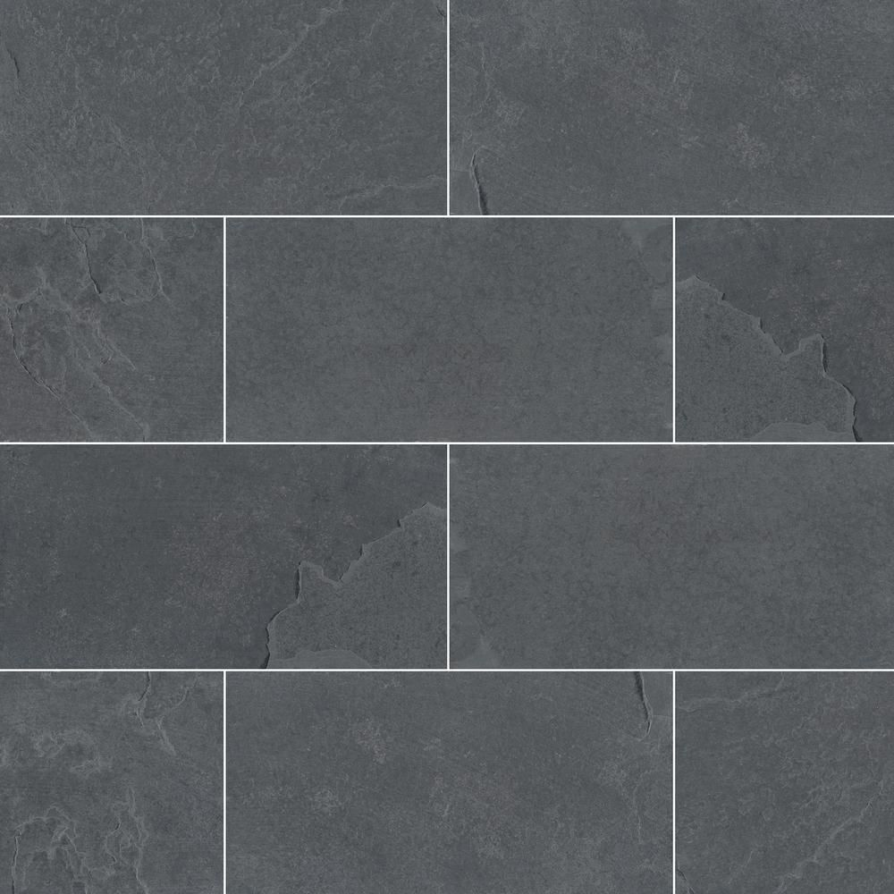 Msi Hampshire 3 In X 6 In Gauged Slate Floor And Wall Tile 5 Sq Ft Case Sham36g The Home Depot Tile Floor Slate Flooring Slate Tile