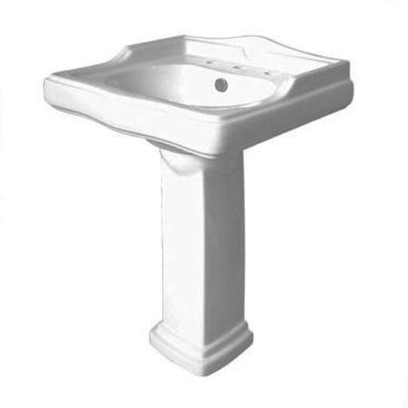 Kingston Brass VPB4258 English Country Pedestal Basin 8 Center, White