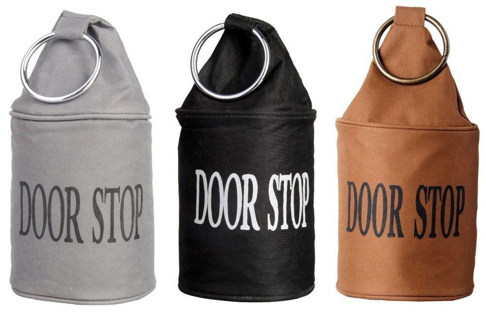 Fabric doorstop metal ring heavy duty polyester door stop