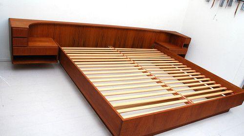 Best Mid Century Danish Modern Komfort Teak Platform Bed With 400 x 300