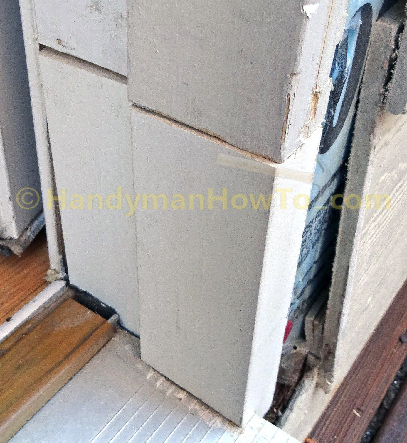 Exterior Door Jamb Repair Splice After Shimming Exterior Door Frame Exterior Doors Door Frame Repair
