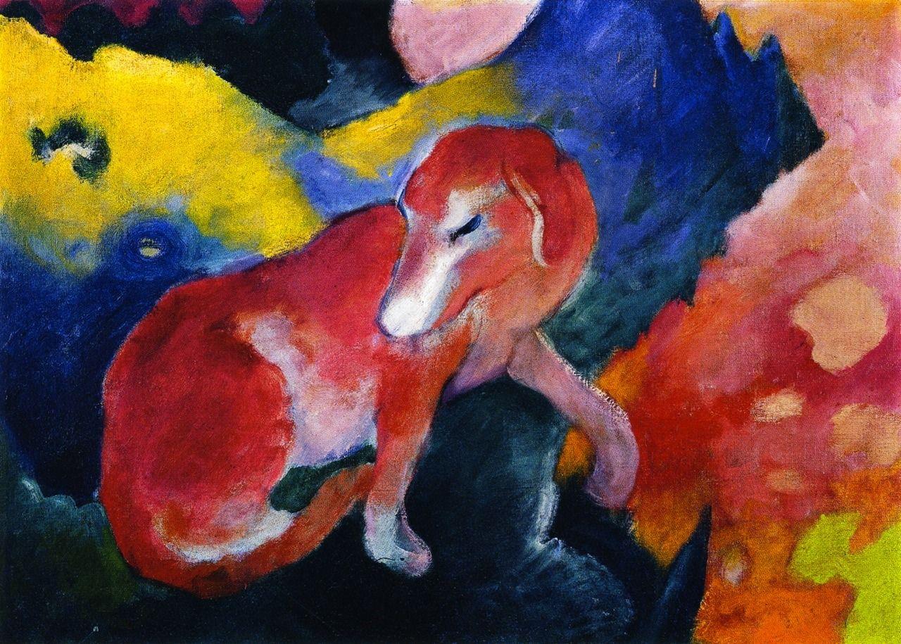 Franz marc red dog pintura pinterest
