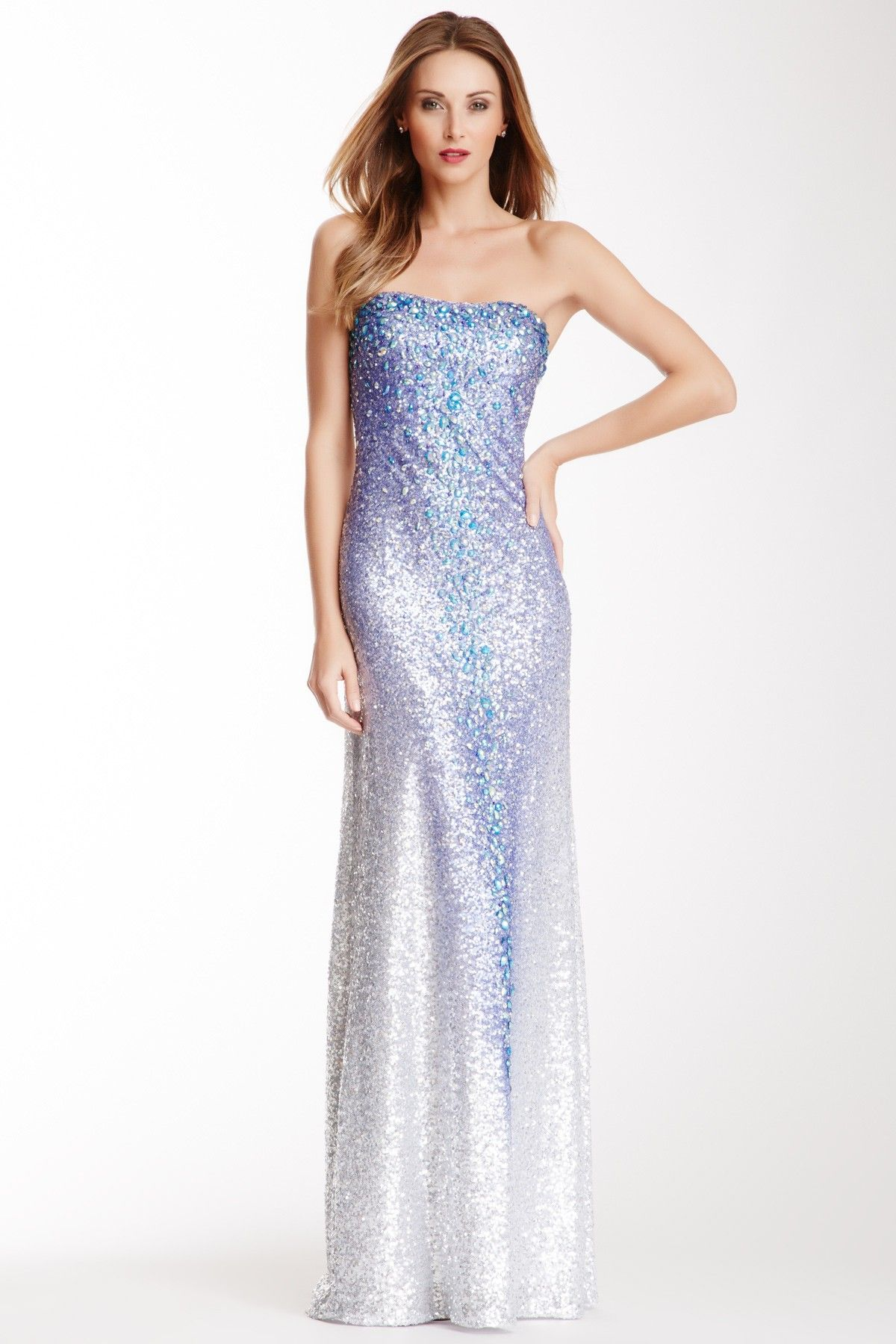 Embellished Gradient Sequin Gown by La Femme on @HauteLook | Bridal ...