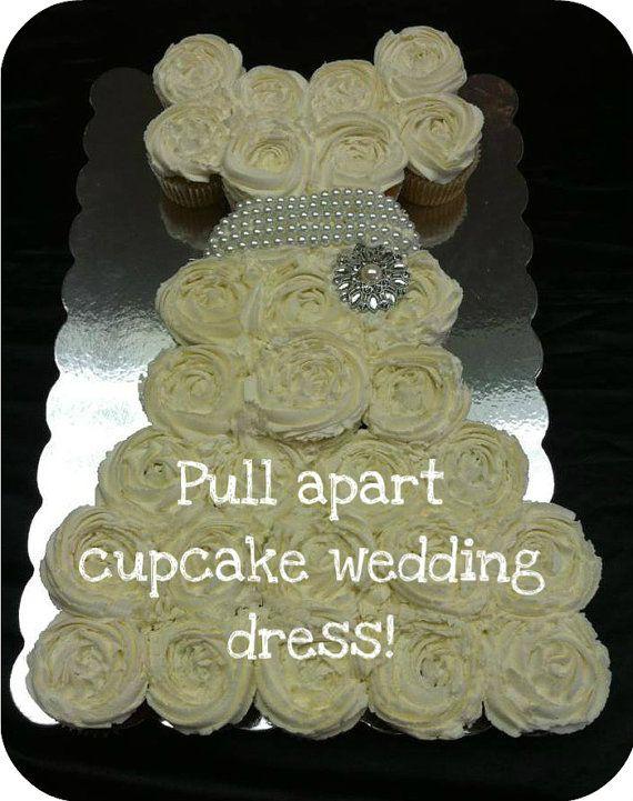 Pull Apart Cupcake Cake Wedding Dress