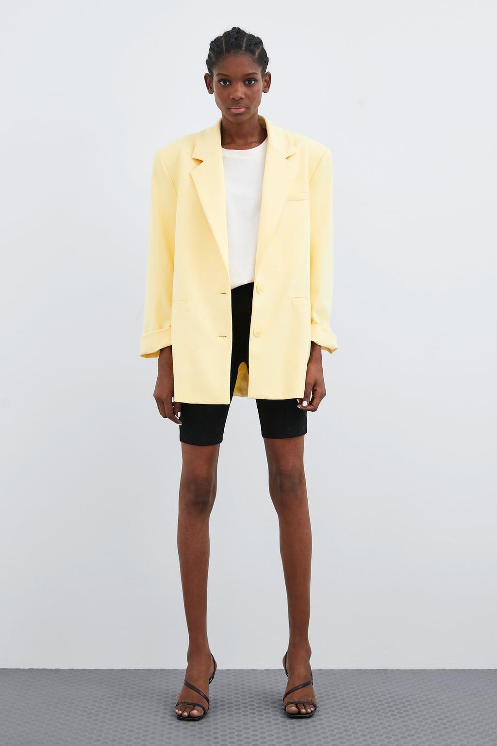 blazer oversize in 2020 | blazer, gelber blazer outfit