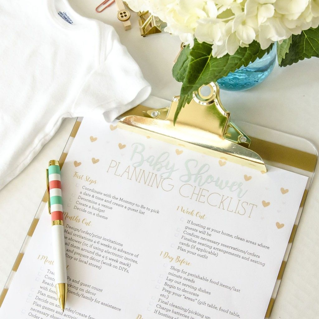 Free Printable Baby Shower Planning Checklist