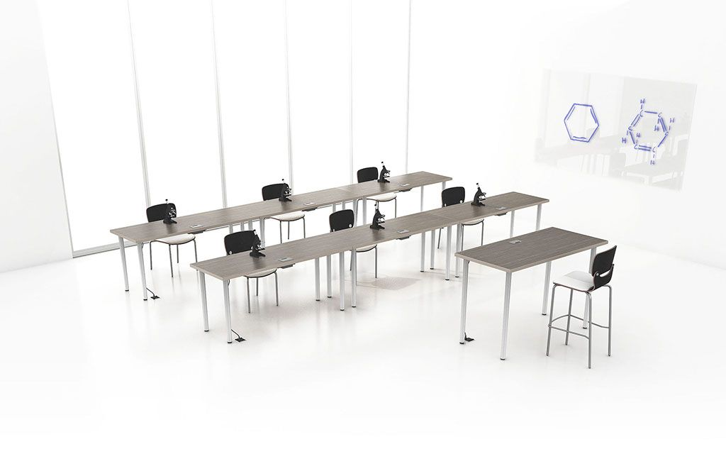 Science Lab Featuring Nevins Glass Boards And Margo Round Post Training Tables Coffee Table Training Tables Table