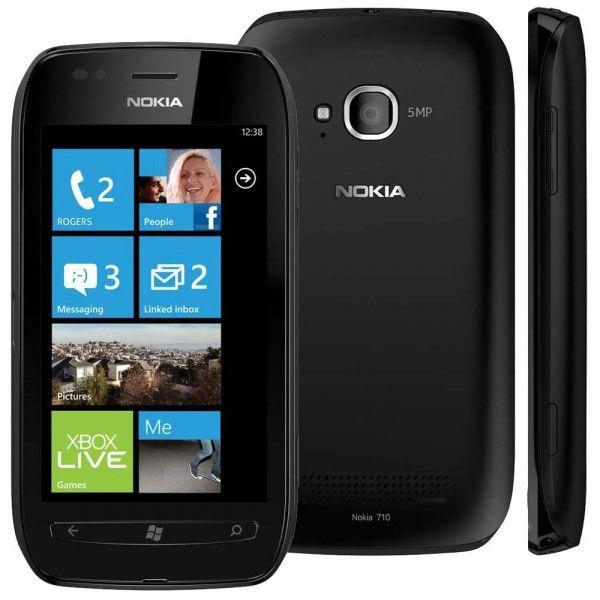 Nokia Lumia710 con Windows Phone negro