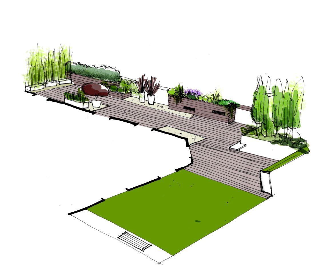 Dise o de jardin para terraza de tico en bilbao for Paisajismo terrazas