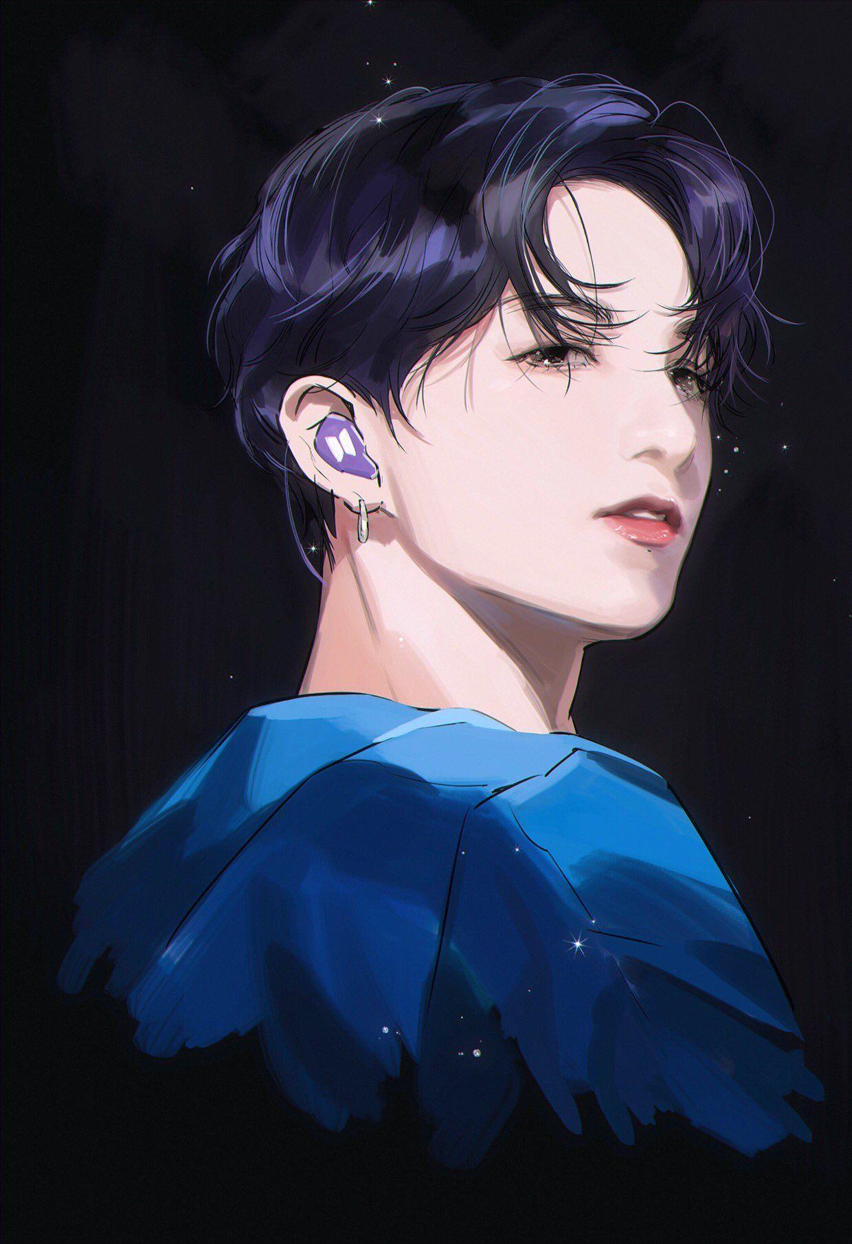 Pin oleh Who? di BTS and BLACKPINK FanArt Gambar anime