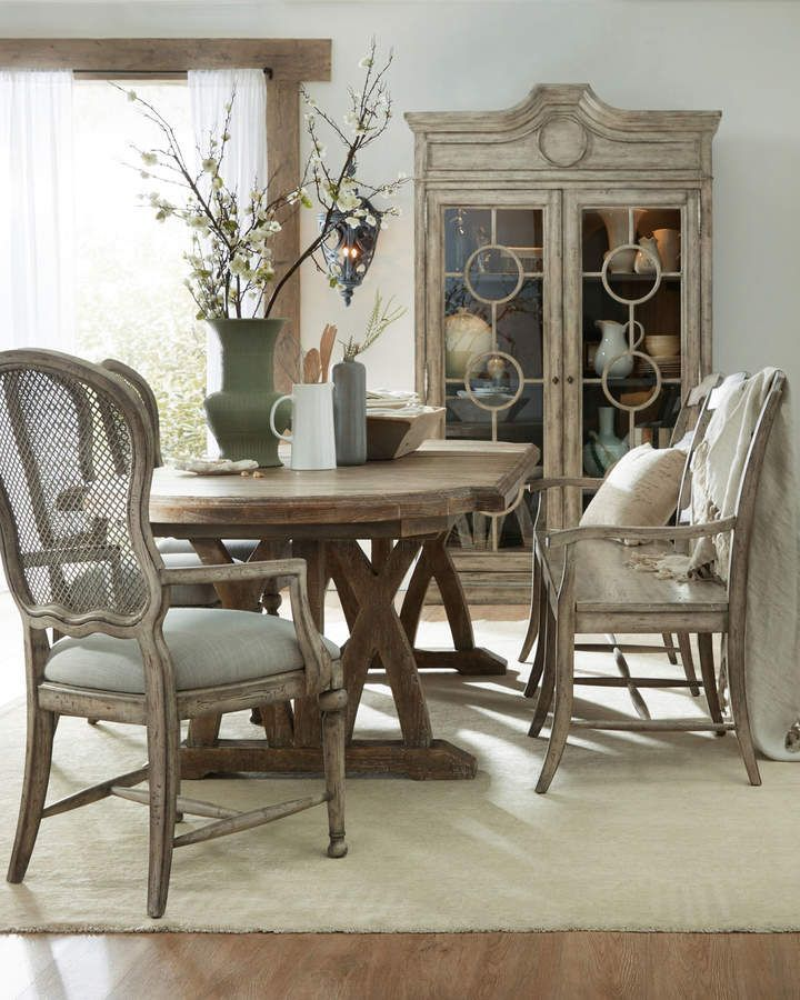 Hooker Furniture Lilith Trestle Dining Table In 2019 Dining Room