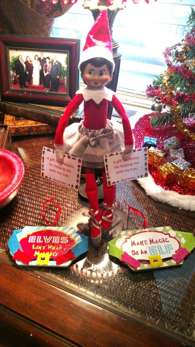 Elf On The Shelf Giving Ornament Gifts Elf Elf On The
