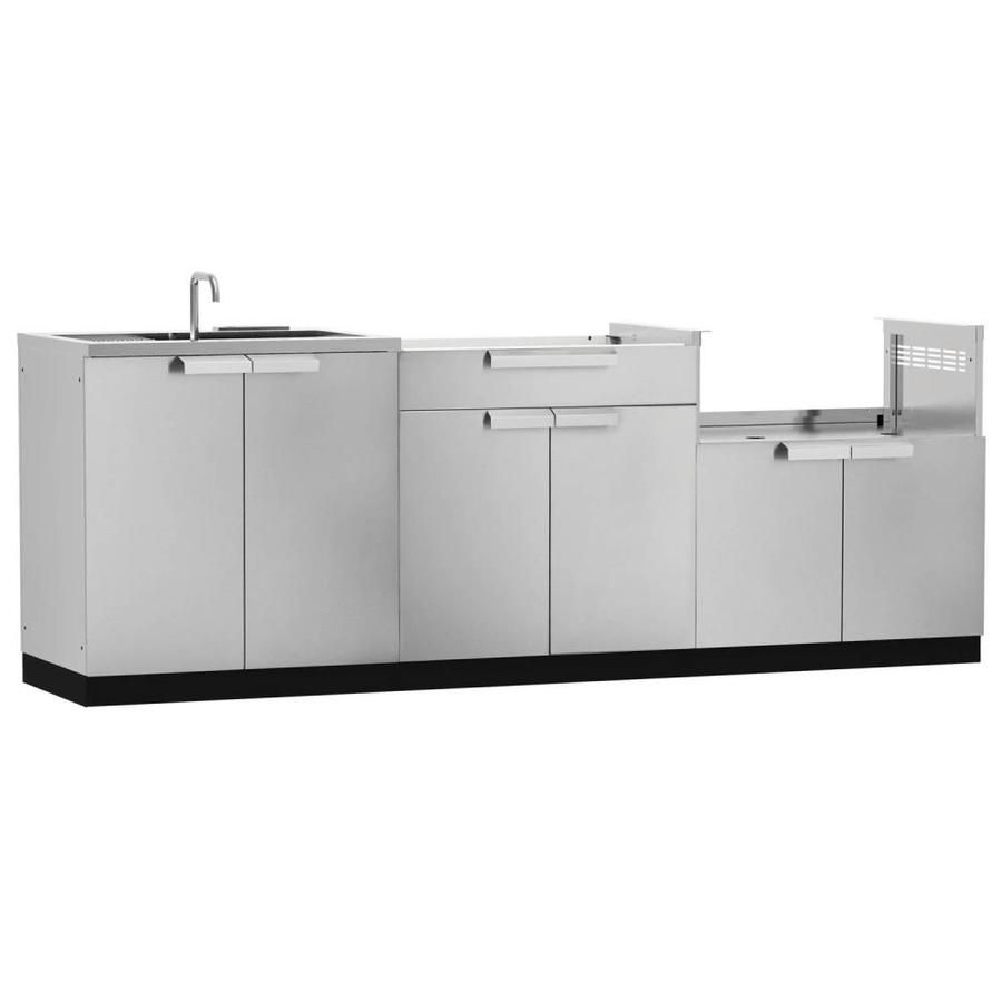 Newage Products Modular Outdoor Kitchen Outdoor Kitchen Modular Cabinet Lowes Com Modular Outdoor Kitchens Outdoor Kitchen Sink Newage Products