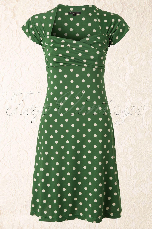 King Louie - 50s Ballroom Dress Polkadot in Green