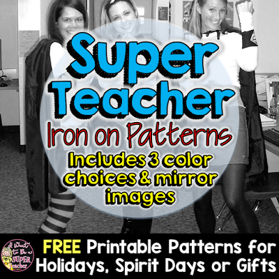 DIY Costume Be a Super Teacher with FREE Iron on