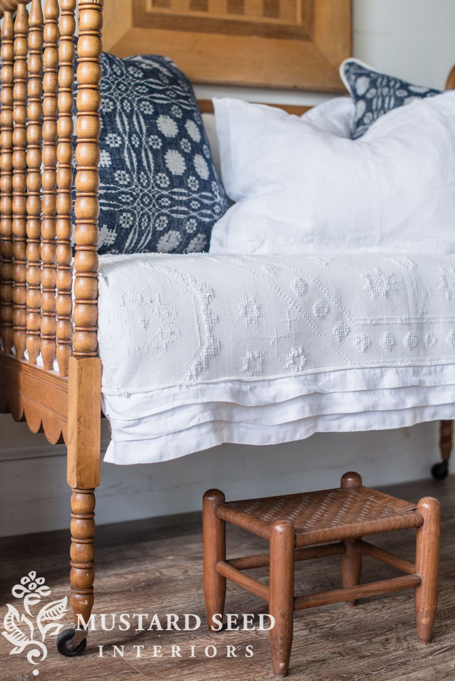antique cribturneddaybed Antique crib, Farmhouse style