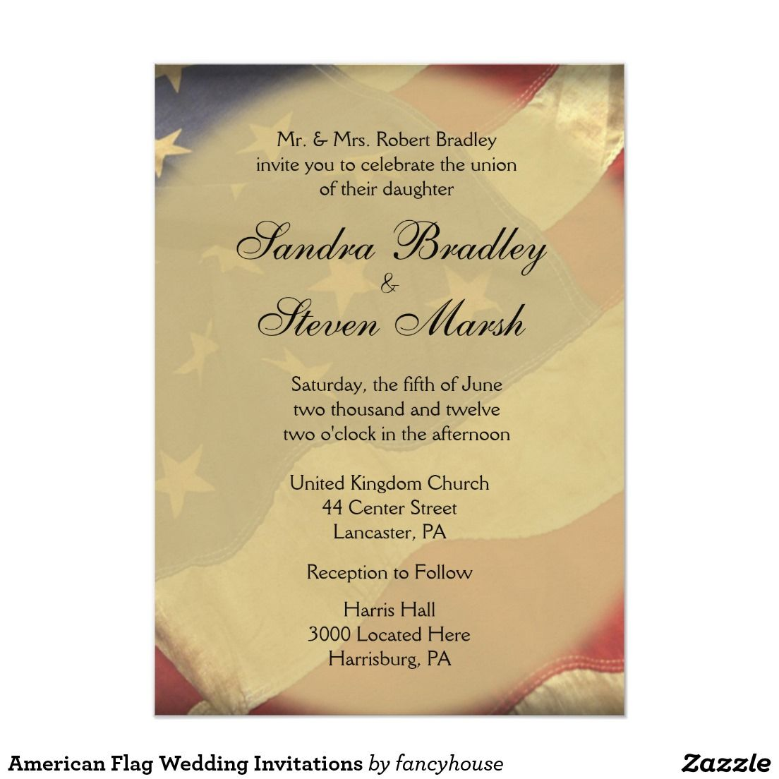 american flag wedding invitations military wedding old glory patriotic wedding military - Patriotic Wedding Invitations