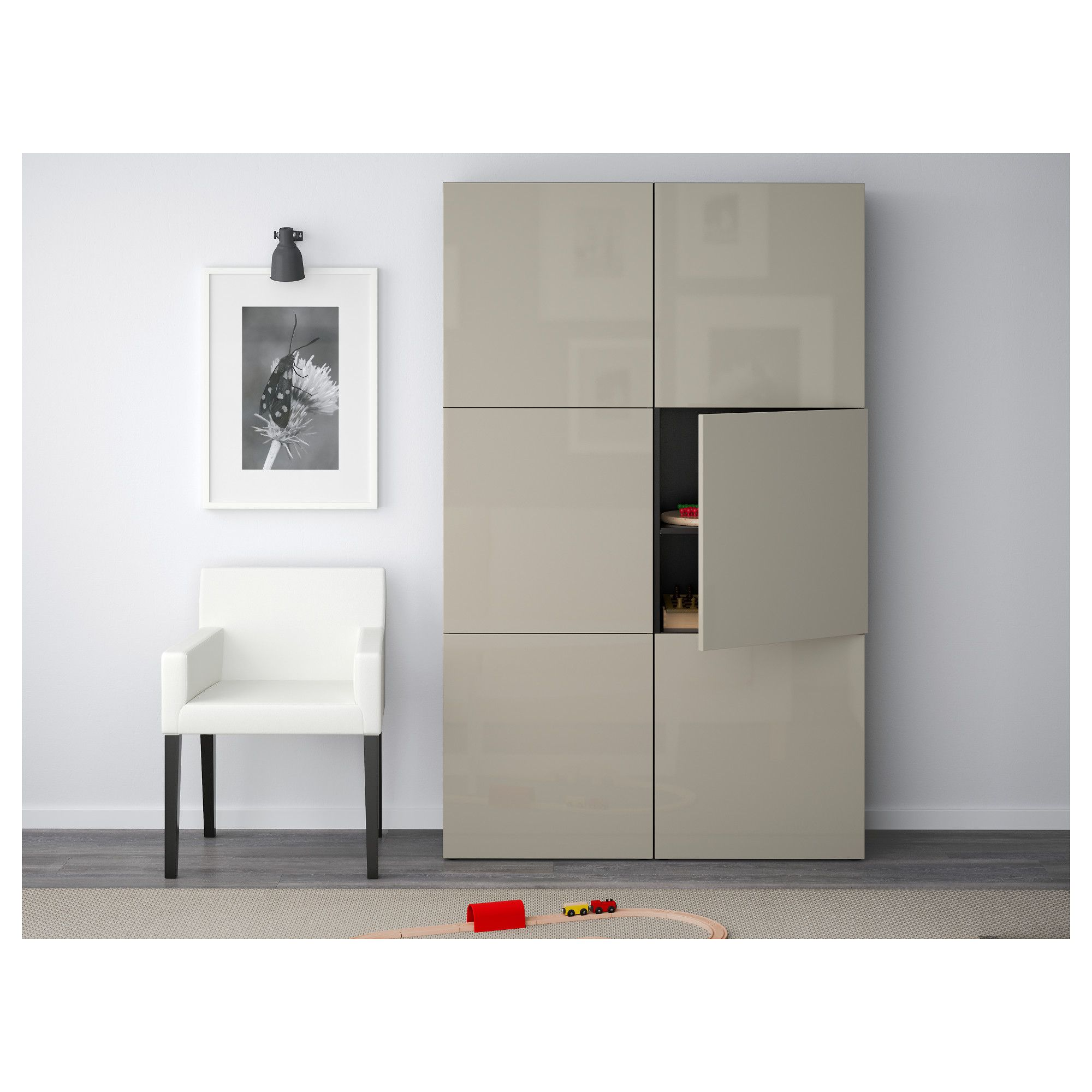 Dupont Moretti Cabinet Ikea BestÅ Storage Combination With Doors Black Brown Selsviken